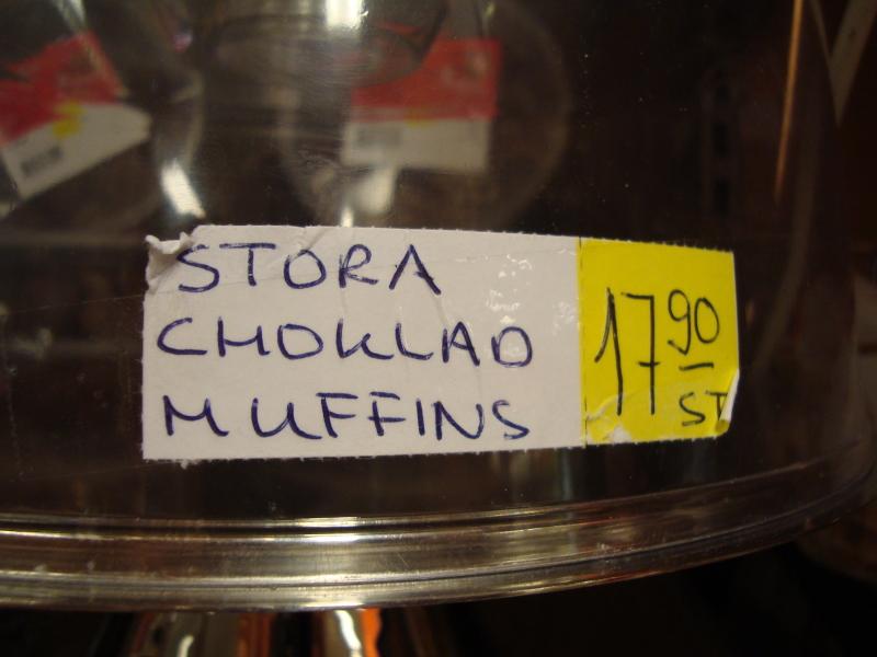 Stora Choklad Muffins