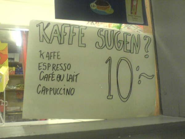 Kaffe sugen?