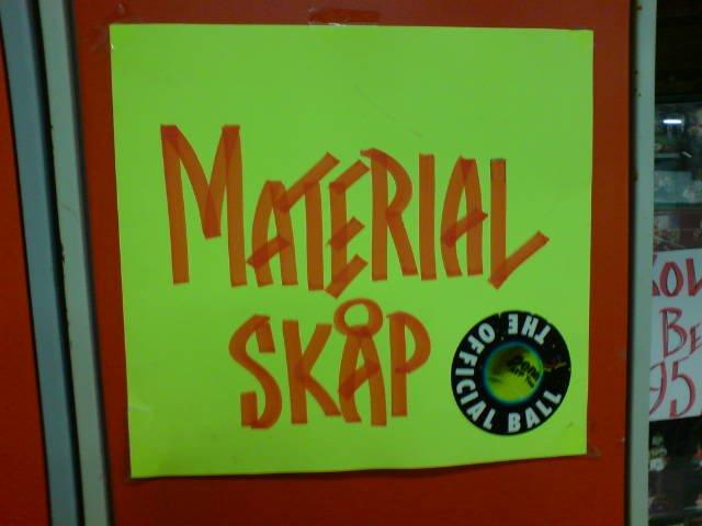 Material skåp