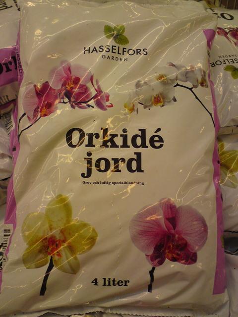 Orkidé jord