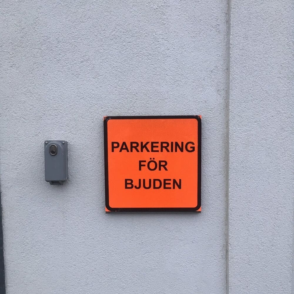 Parkering för bjuden